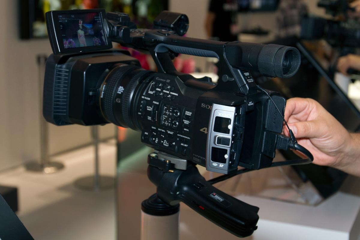 Sony's new 4K Handycam at IFA 2013