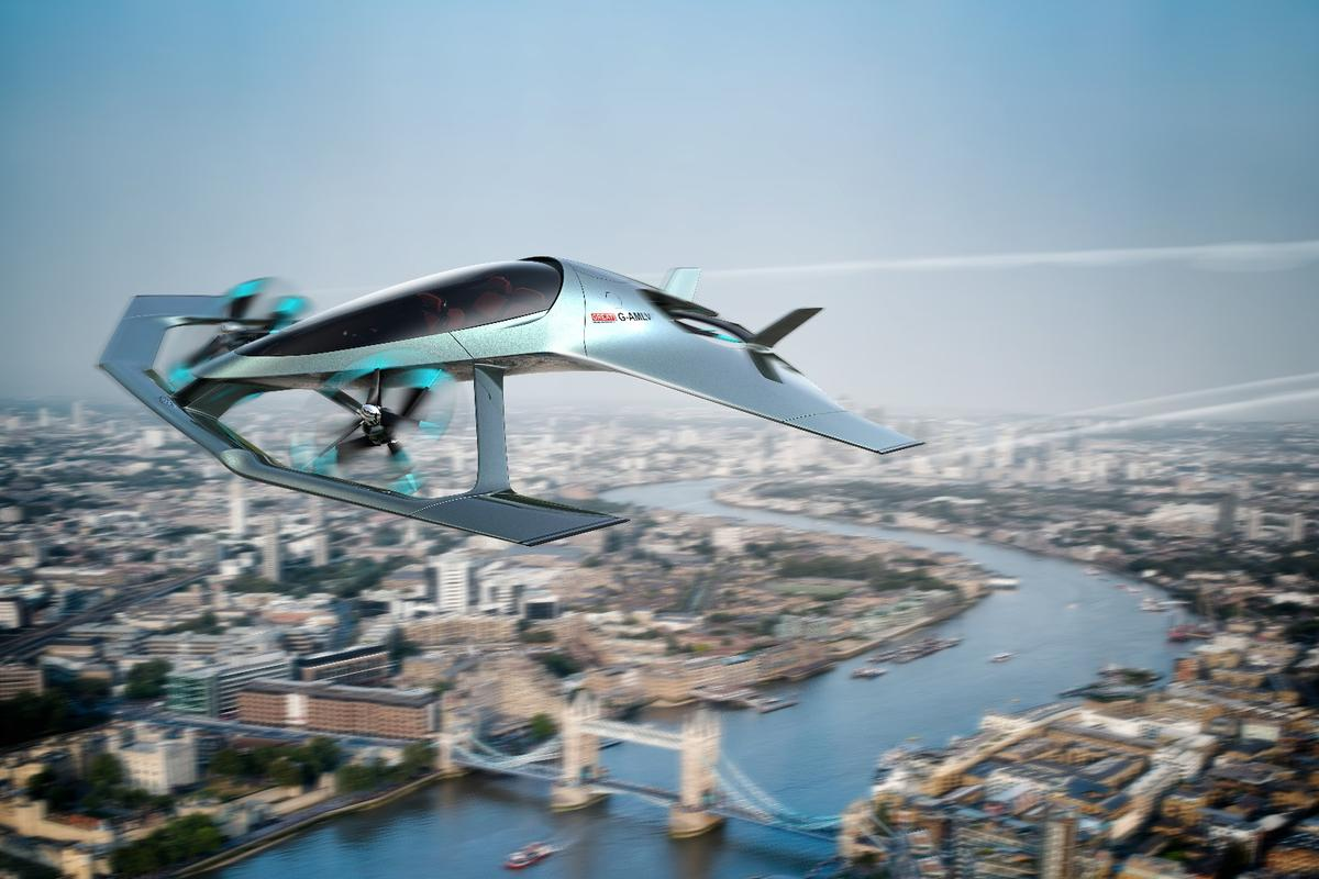 Aston Martin is presenting itsVolante Vision flying taxi concept at the Farnsborough International Airshow this week