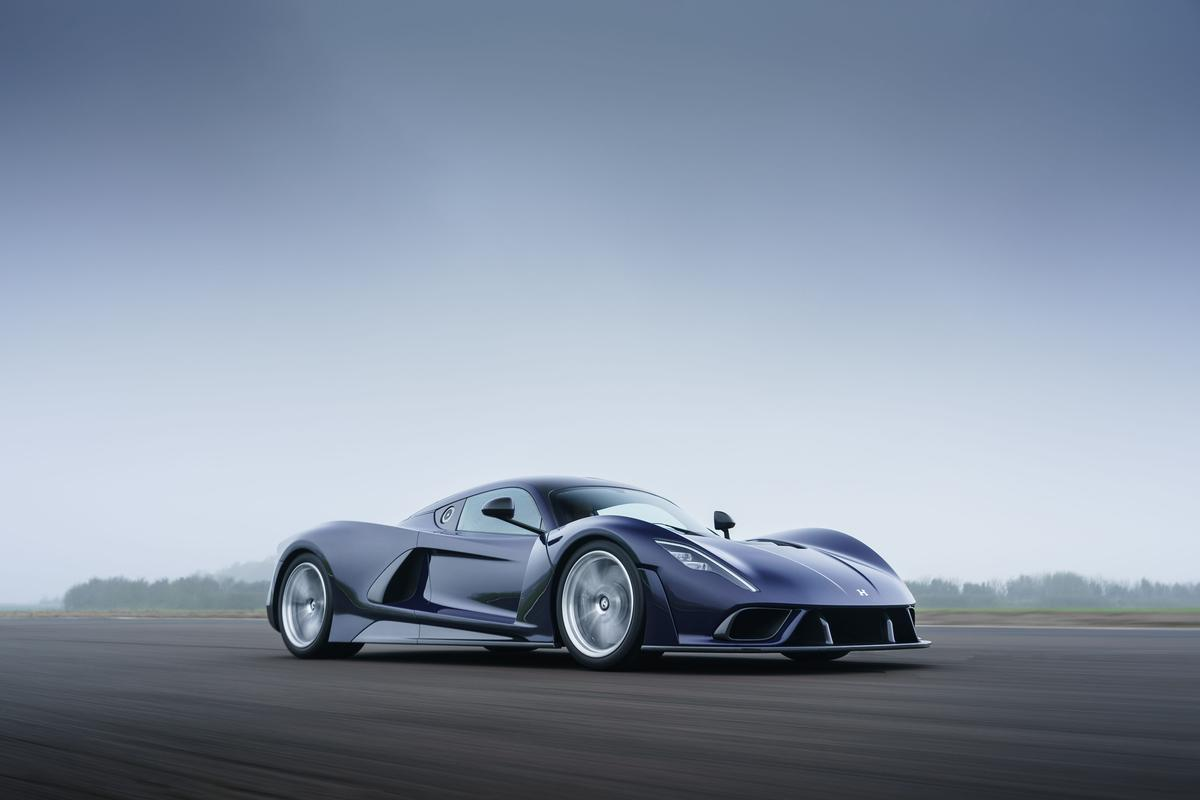 The production-spec Hennessey Venom F5 promises to suck the doors off a Koenigsegg Regera with its savage acceleration