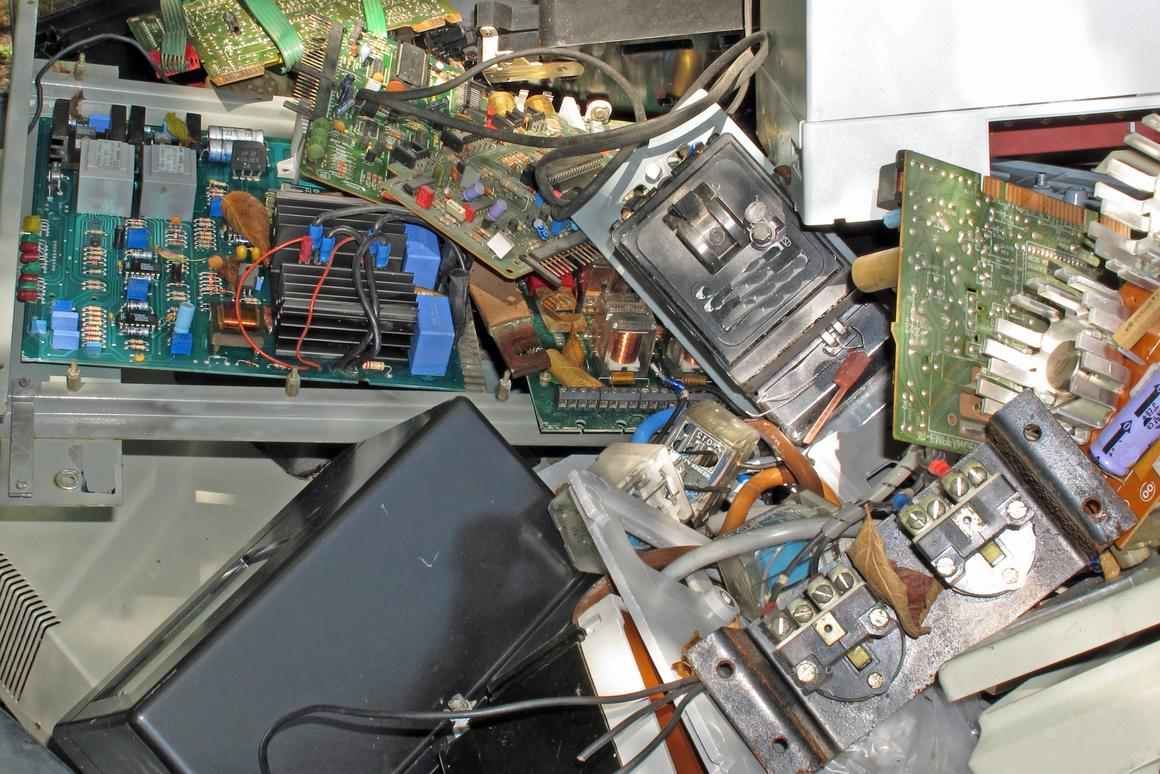 Because the disassembly of electronic devices is so difficult, they're often not recycled at all
