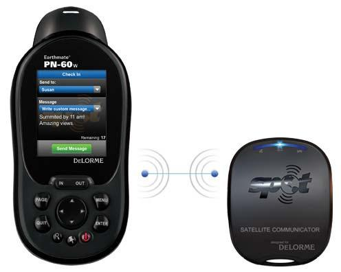 Launched in 2010, the PN-60w paired with a SPOT satellite unit for messaging