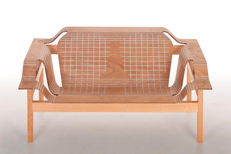 Skin is a flat pack armchair that still has curves thanks to Stratflex technology