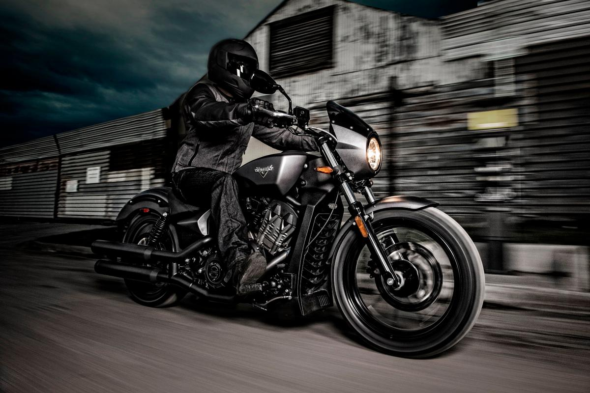 The Victory Octane takes a stab at the logic behind motorcycles like the Ducati XDiavel, offered at a considerably less intimidating price