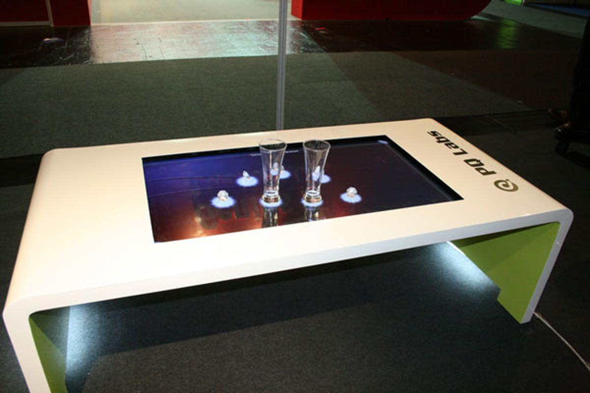 The iTable touchscreen coffee table from PQ Labs