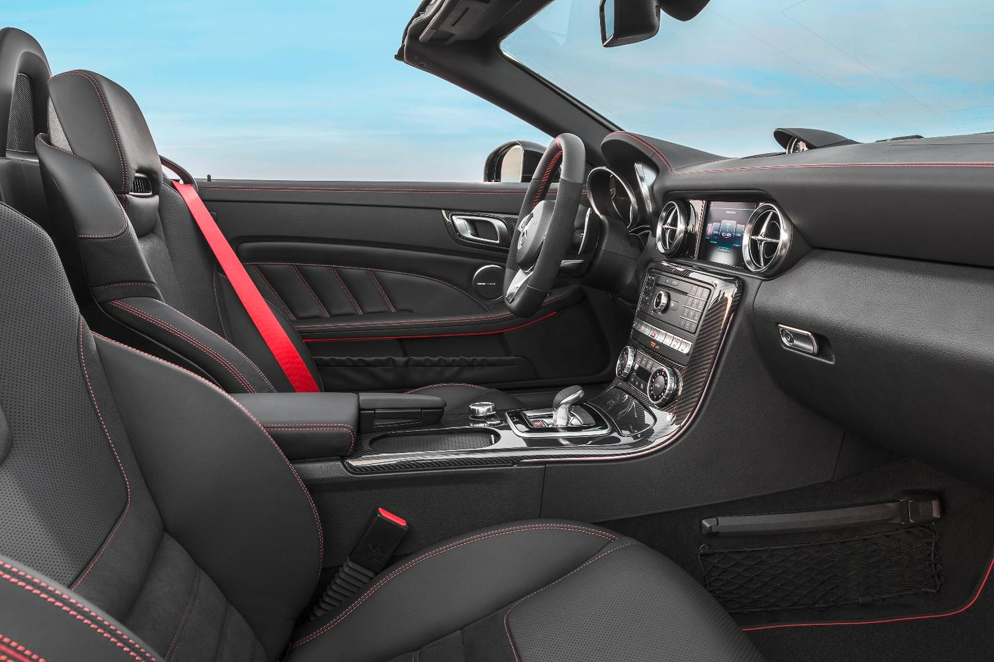 The redesigned interior of the new Mercedes Benz SLC