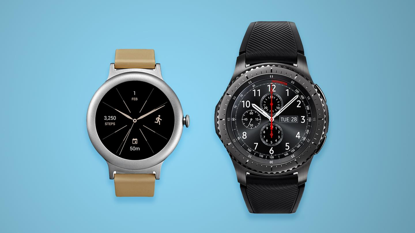 Comparing the relatively minimal LG Watch Style with the hulking Samsung Gear S3