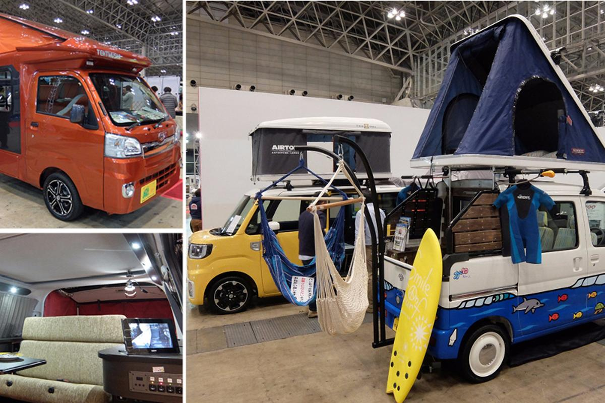 Japan is home of the Micro Camper and there were numerous designs on display at the Japan Camping Car Show 2016