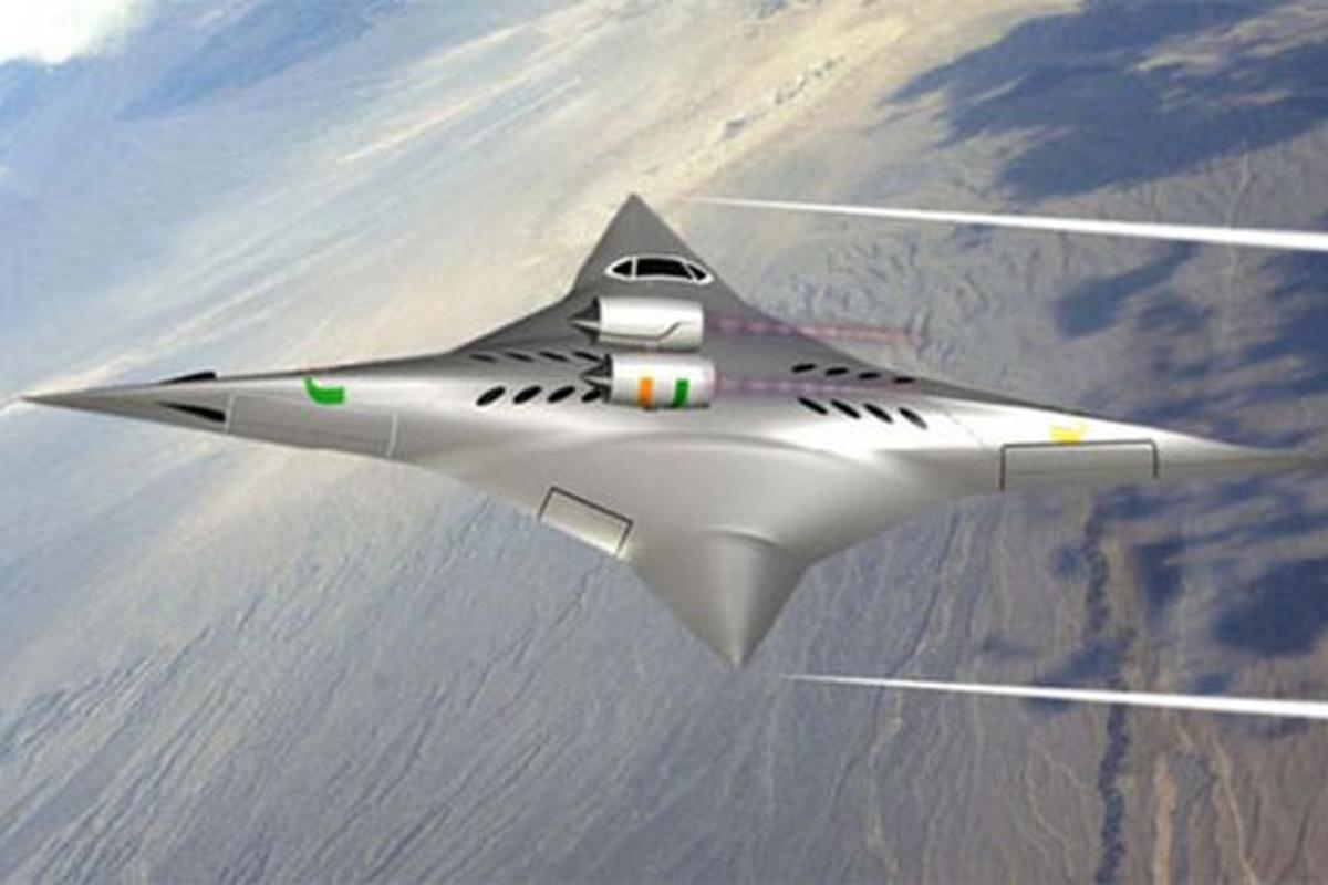 The supersonic bi-directional flying wing (SBiDir-FW) aircraft in high-speed configuration (Image: University of Miami)