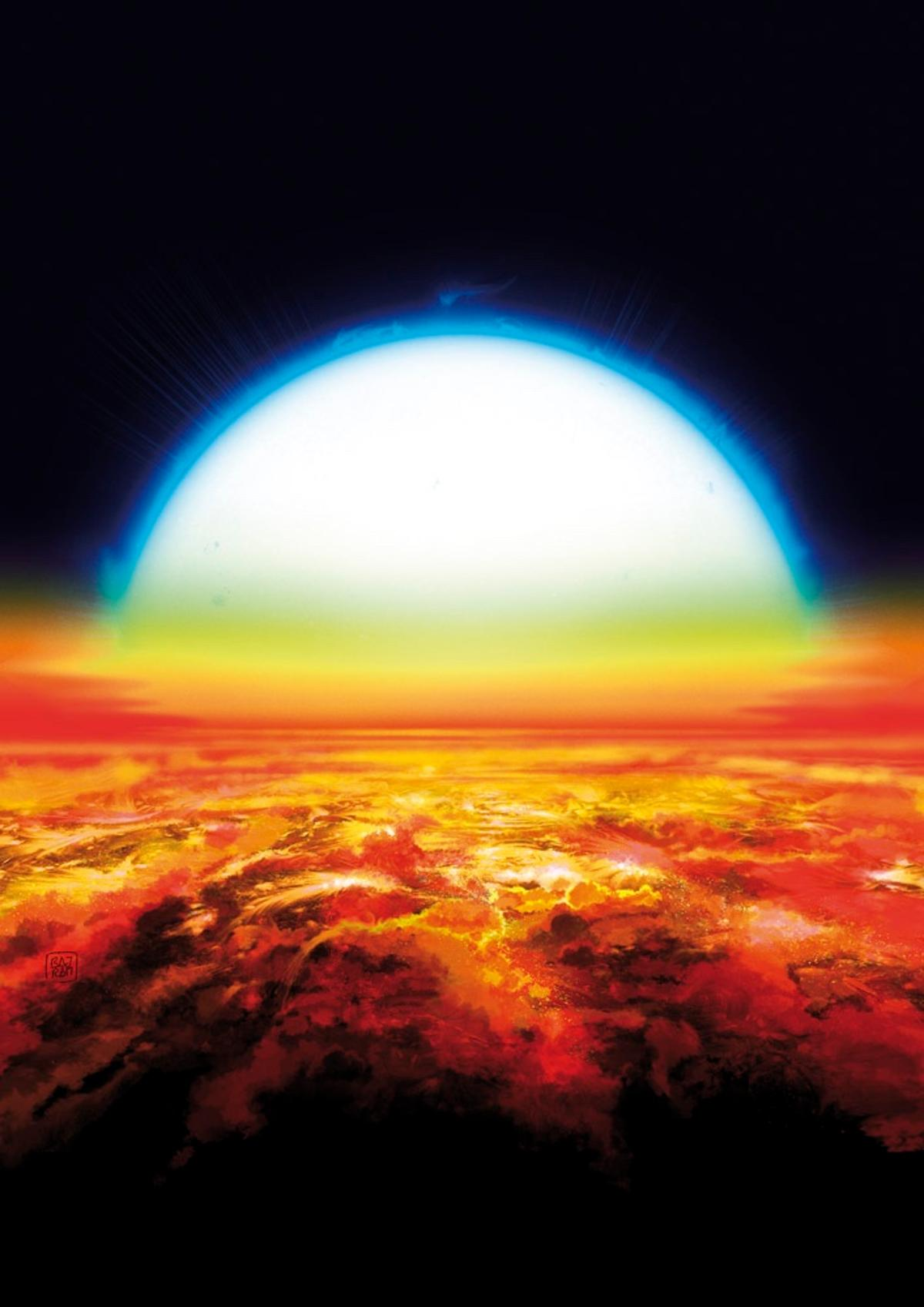 Exoplanet KELT-9b hassurface temperatures of up to 4,327° C (7,820° F)