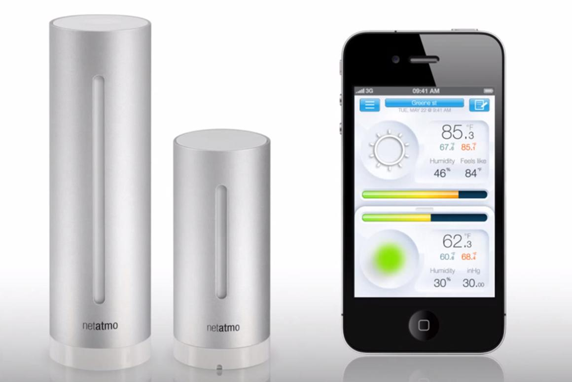 Netatmo's Urban Weather Station consists of Wi-Fi-connected indoor and outdoor modules