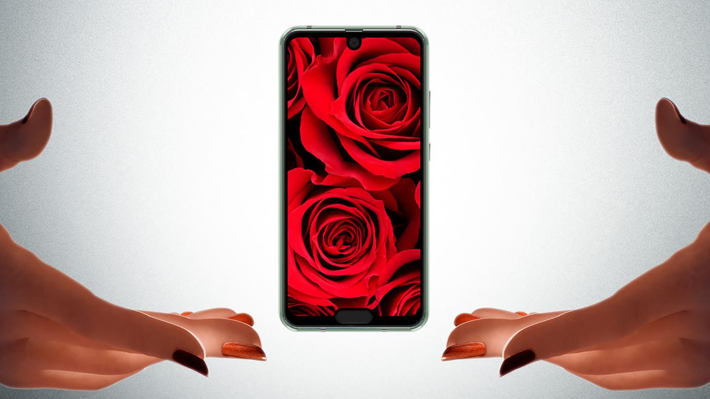 The Sharp Aquos R2 Compact offers a notch at the top and the bottom of the display