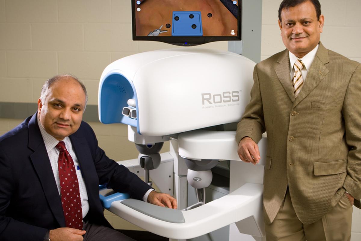 HOST developers Khurshid Guru, MD, (left) and Thenkurussi Kesavadas, PhD