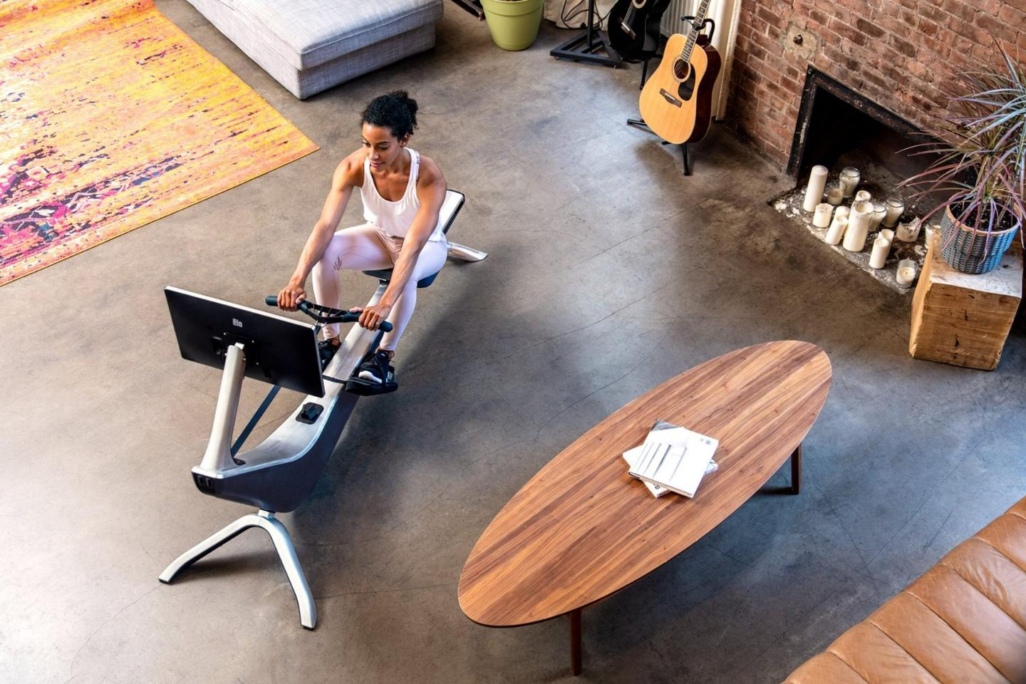 Rowing machine aims to bring a live-streamed coach into your