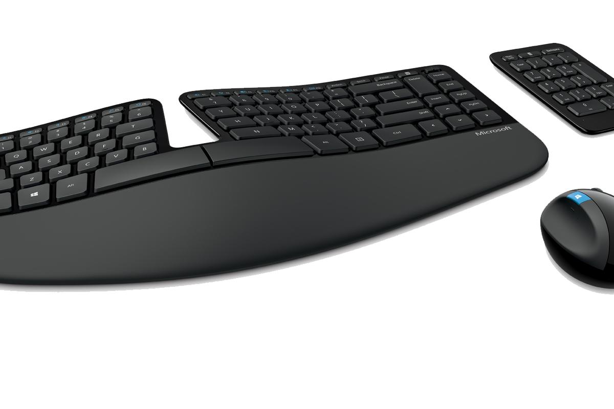 The Microsoft Sculpt Ergonomic keyboard and mouse