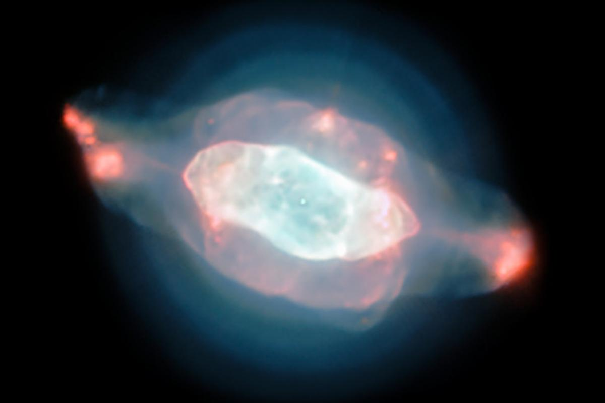 An image of NGC 7009,otherwise known as the Saturn Nebula, as captured by the ESO's Very Large Telescope using the MUSEinstrument