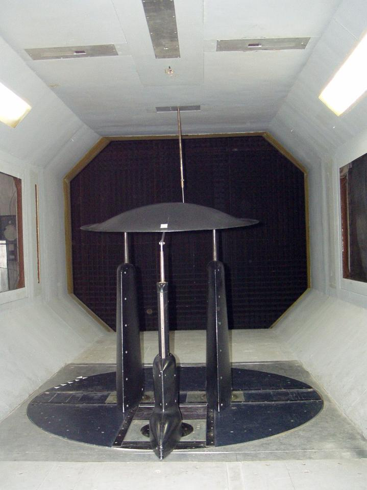 The ADIFO prototype in wind tunnel testing