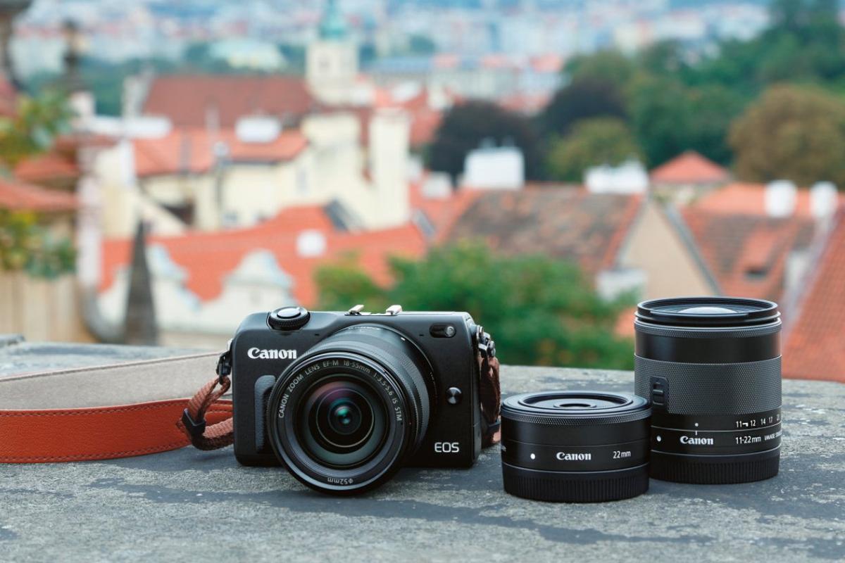 The Canon EOS M2 mirrorless interchangeable lens camera