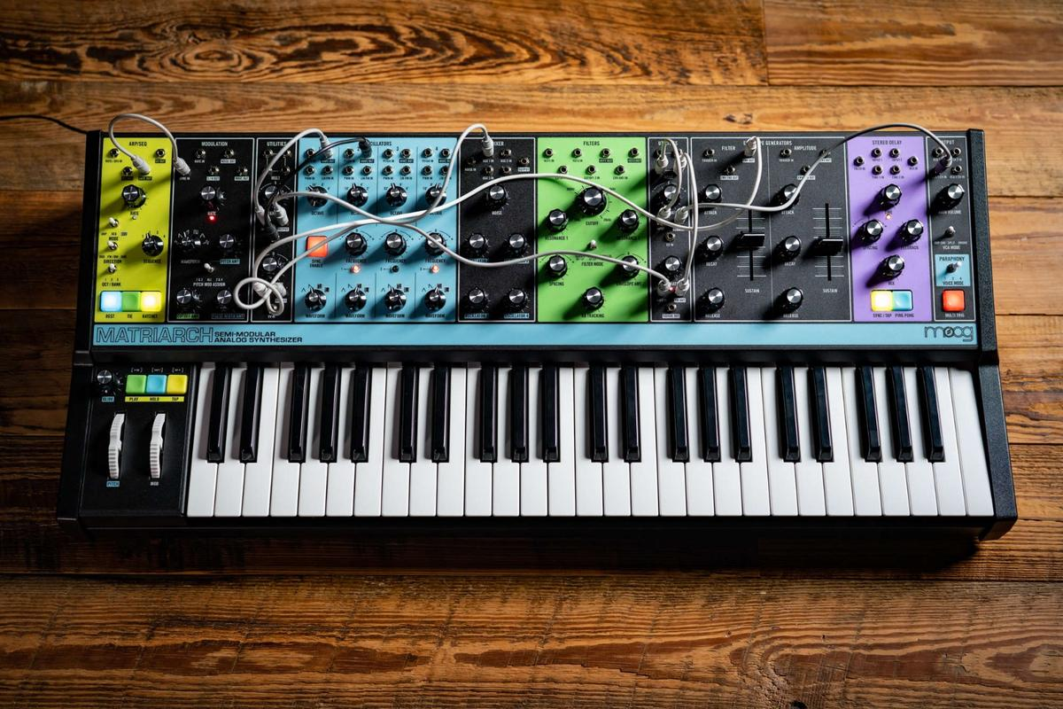 The Moog Matriarch features four analog voltage controlled oscillators