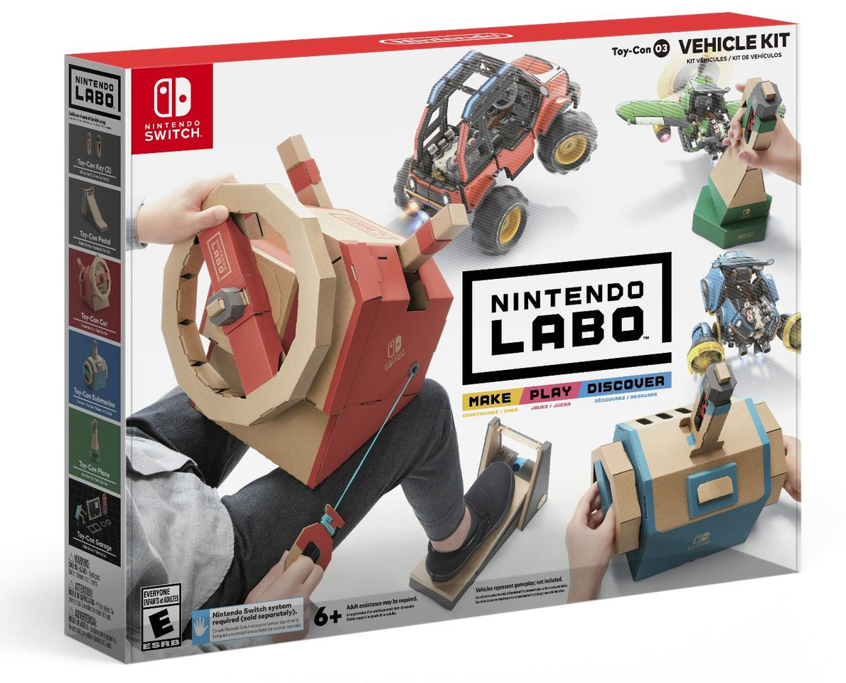 The Nintendo Labo Vehicle Kit will be available on September 14, for US$69.99