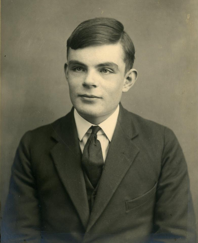 """In the notebook, Turing reportedly """"works on the foundations of mathematical notation and computer science"""""""