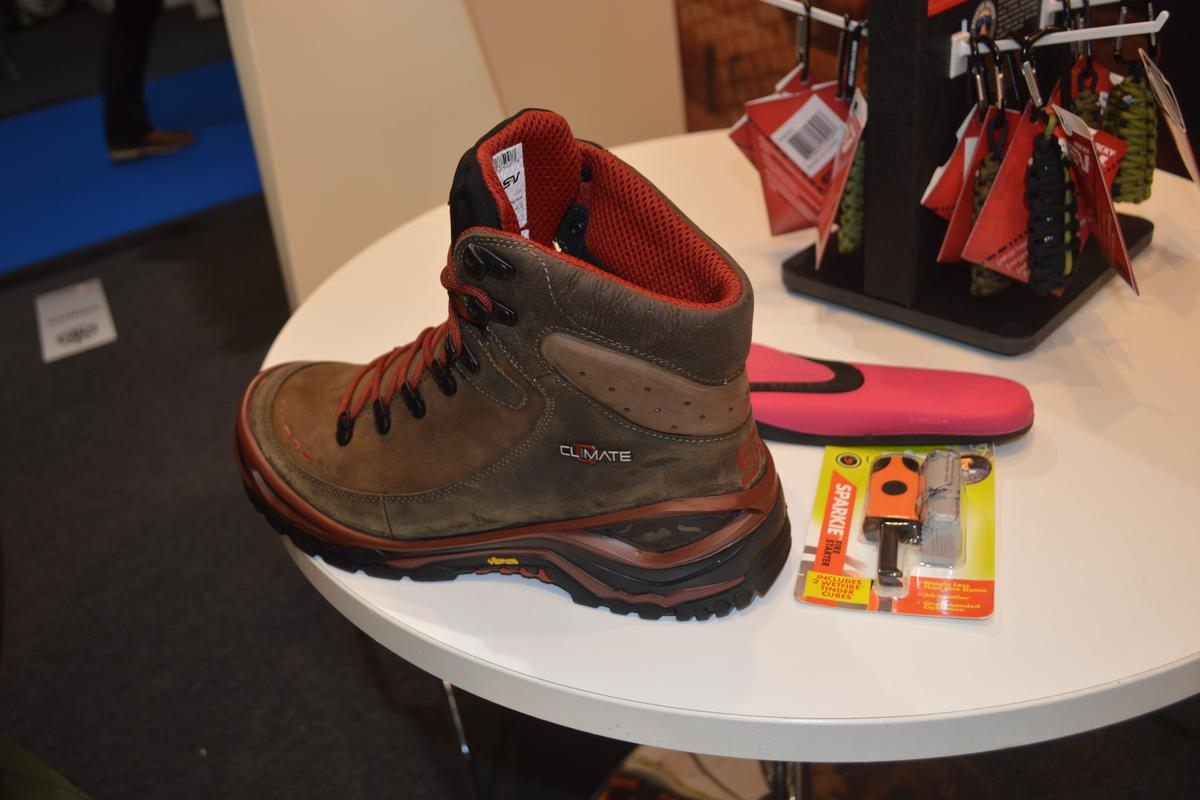 The Substratum boots include leather construction
