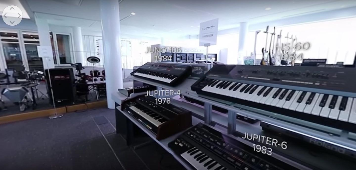 A guided tour of Roland's private Museum is available through YouTube