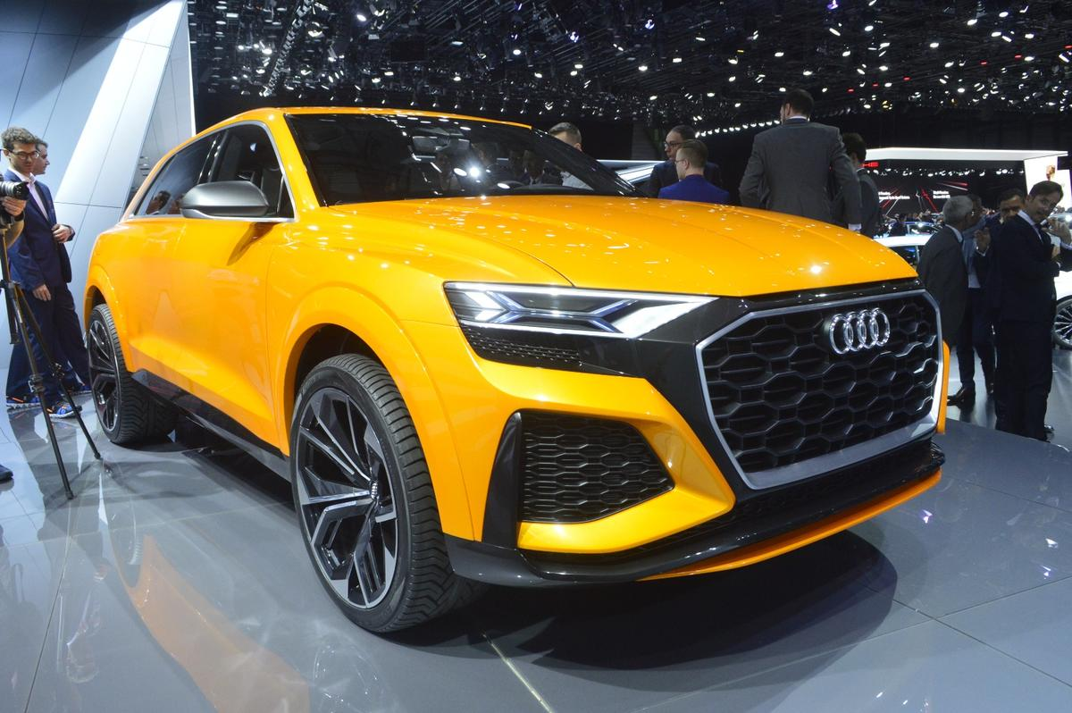Audi says that the Q8 sport concept's 0-100 km/h (62 mph) time is only 4.7 seconds - phenomenal for a full-sized SUV