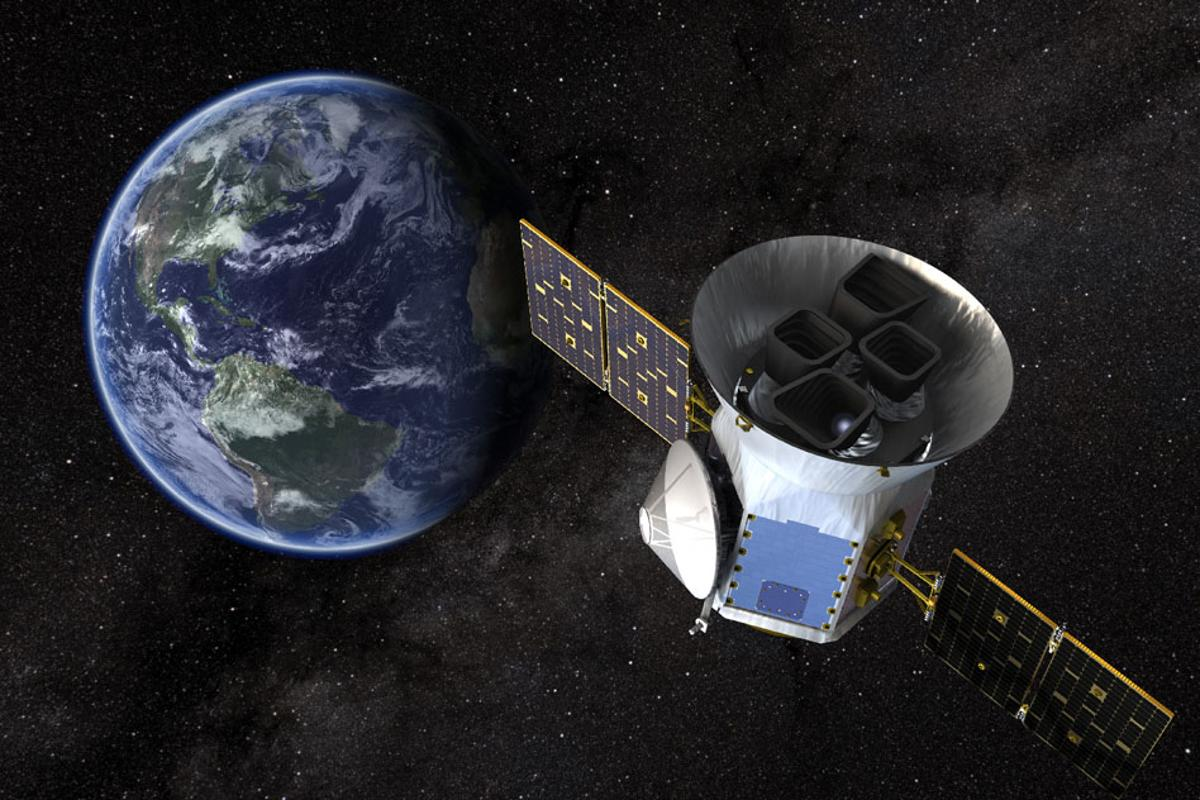 Artist's concept of the the TESS satellite