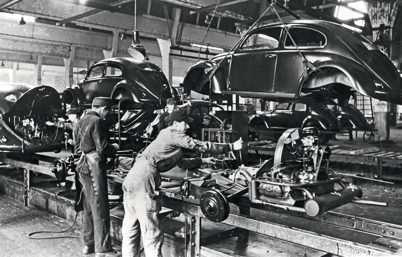 Сборочная линия Volkswagen базировалась на заводе Ford в Детройте.