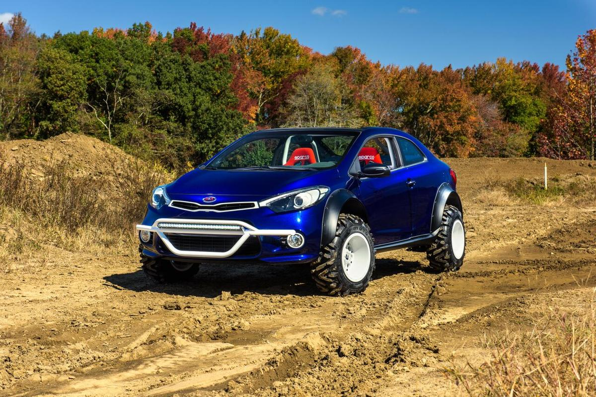 The Kia Forte Koup Mud Bogger is one of six adventure concepts the Korean automaker is taking to SEMA 2015