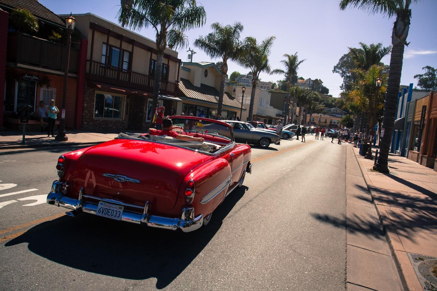 This 1953 Chevy Bel Air makes it's entry into the Capitola Rod and Custom Car Show