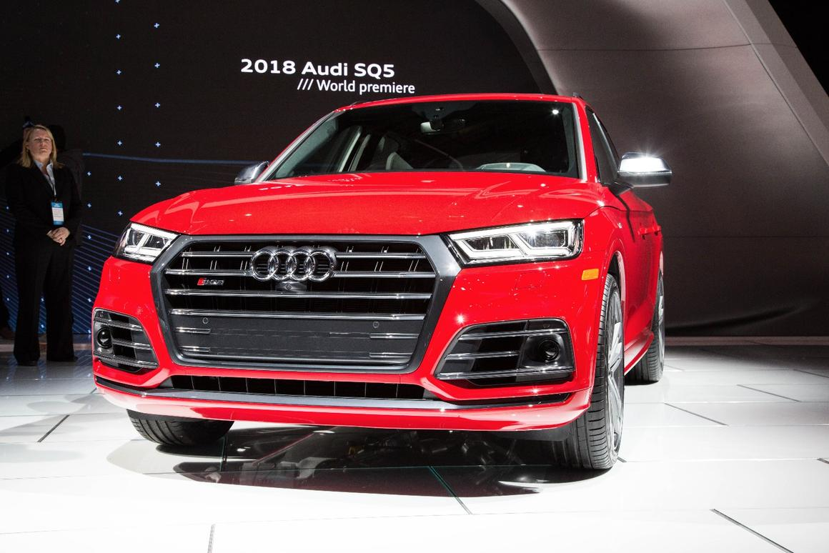 The new Audi SQ5 on show in Detroit