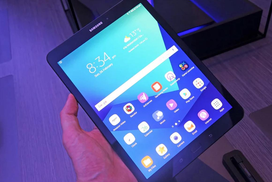 The Galaxy Tab S3, unveiled at the Mobile World Congress, arrives in US stores on March 24