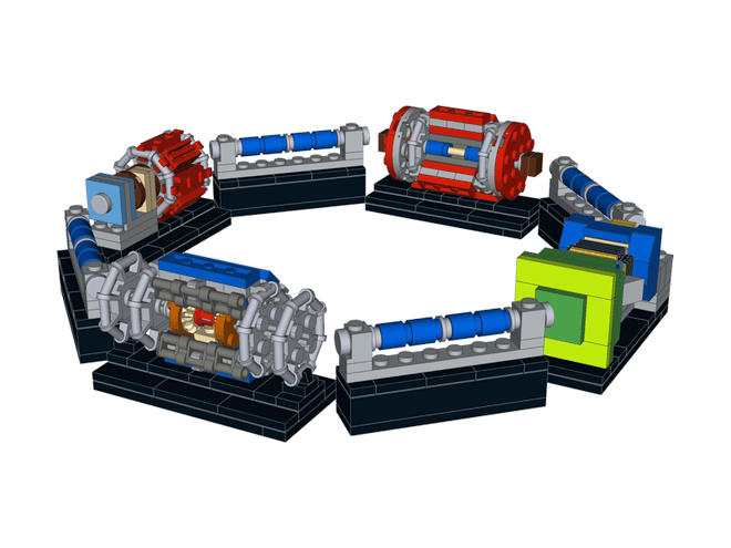 The four detectors linked with representative dipole magnets