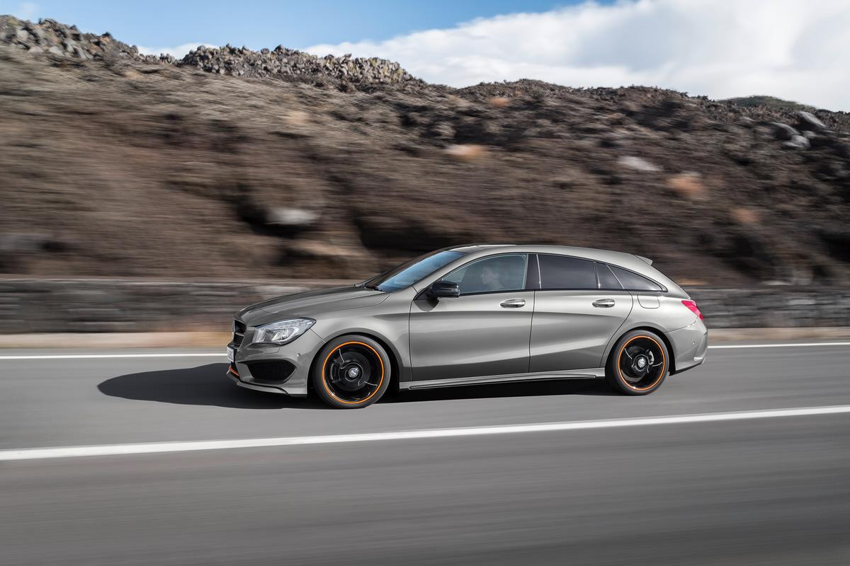 The CLA Shooting Brake's front styling is almost identical to the styling on the coupe