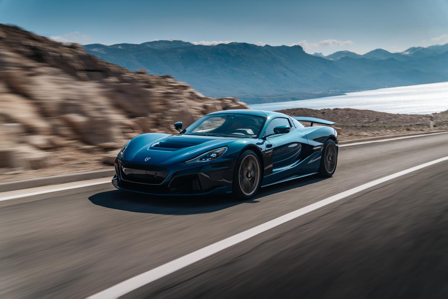 Rimac says the Nevera has a 48/52 front/rear weight split