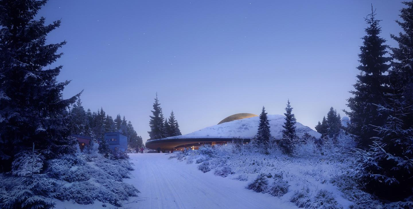 The Solobservatoriet center is located north of Oslo, Norway