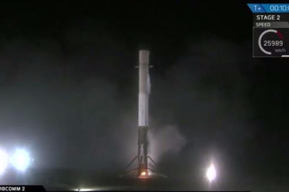 The Falcon 9 made history's first controlled landing of an orbital space rocket