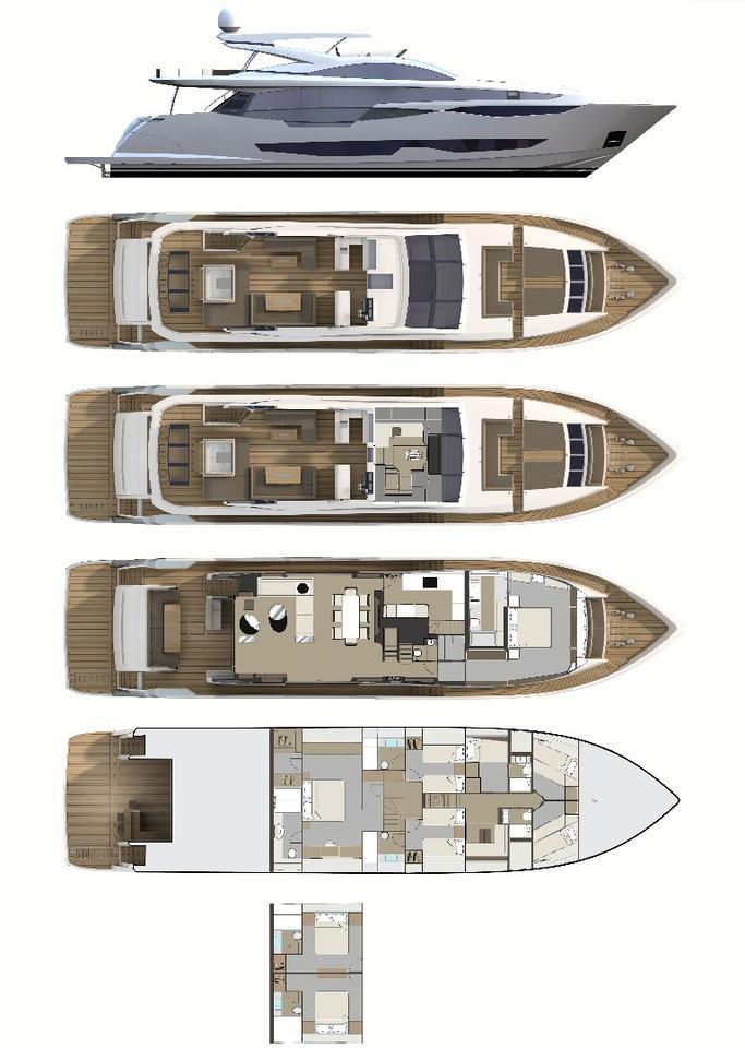 Pearl 95deck plan