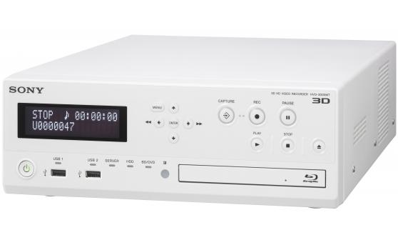 Sony's HVO-3300MT medical recorder can record 3D video and images in HD resolution, storing it on its own hard drive or straight to a server, as well as writing it to a Blu-Ray disc or flash drive