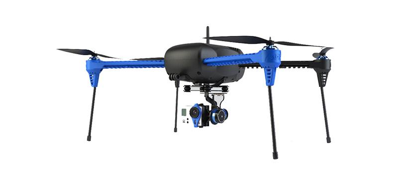 The Iris+ quadcopter can follow a paired GPS-equipped Android device