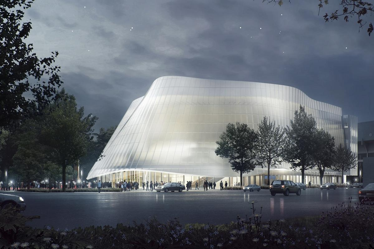 The façade of the China Philharmonic Concert Hall will be made of ceramic fritted glass