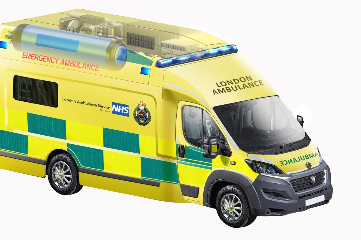 The zero (local) emissions ambulance prototype will be built and delivered to the London Ambulance Service later this year