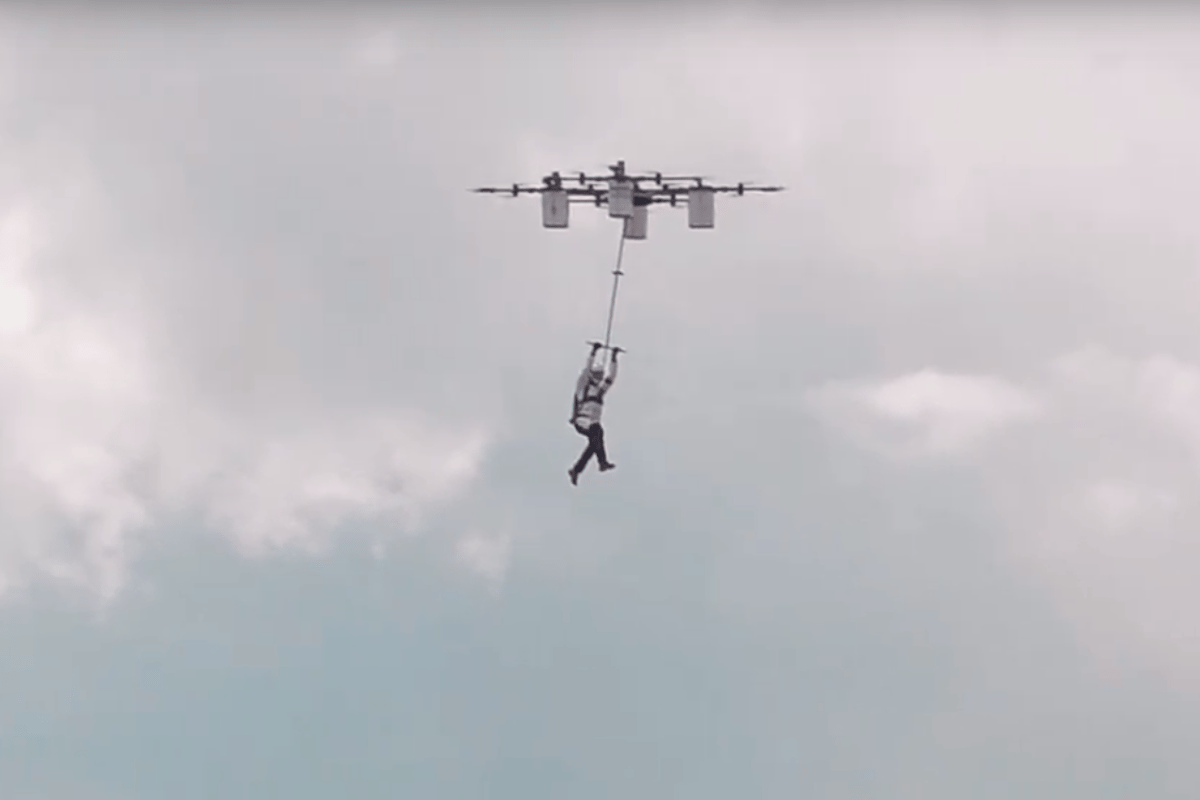 Thrill seekers here is your new favorite extreme sport. Using a drone you can effectively base-jump anywhere without the need for a tall building or cliff