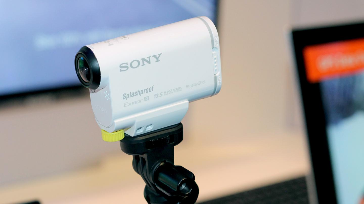 Sony's new HDR-AS100V – it's white!