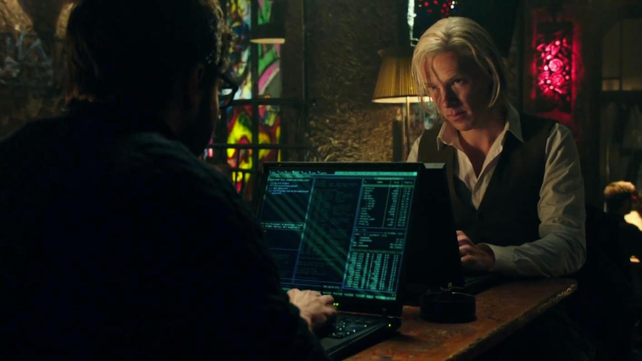 "Benedict Cumberbatch as Julian Assange in ""The Fifth Estate"""