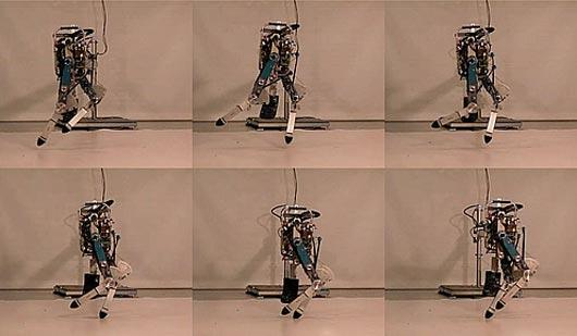 Delft University's planar running robot Phides captured in still images