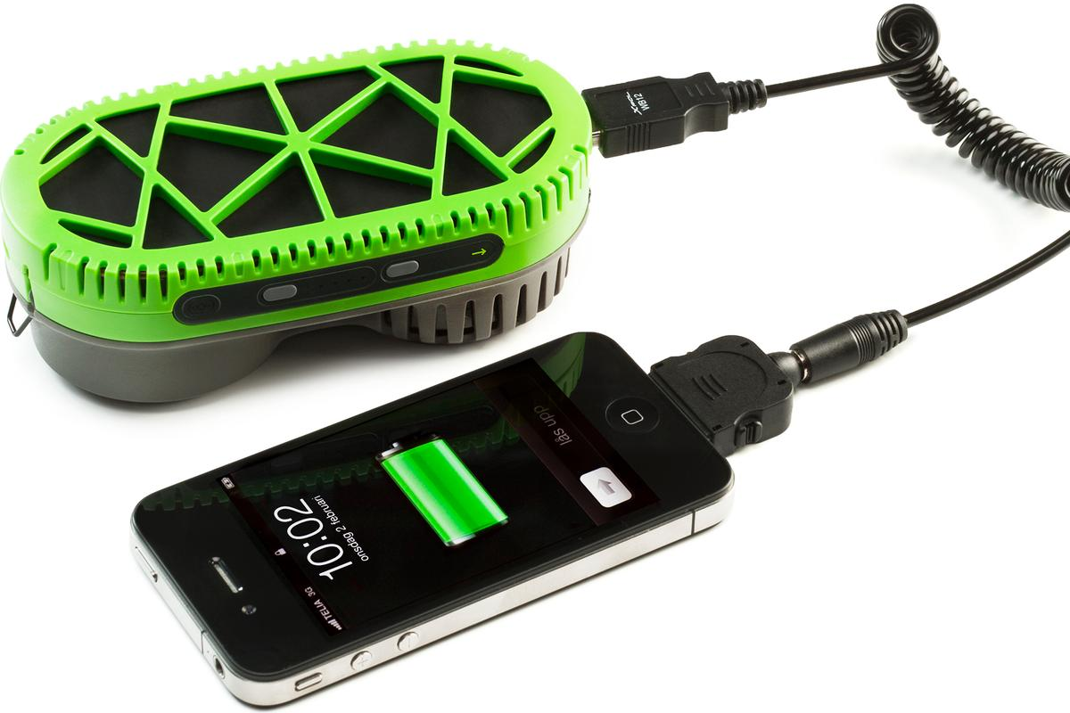 SiGNa Chemistry and myFC have developed the PowerTrekk, a 2-in-1 portable charging solution that consists of a Li-ion battery pack and a hydrogen fuel cell