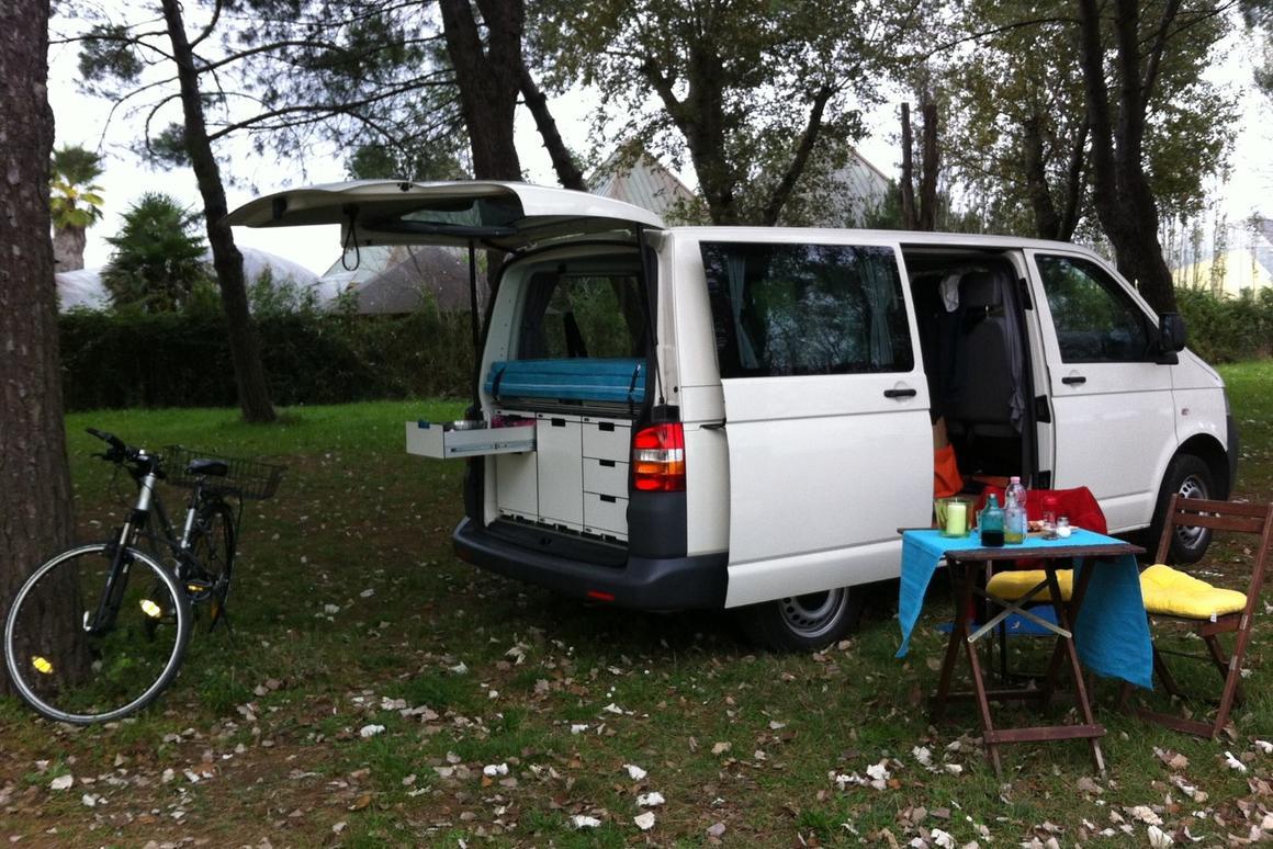 A QUBIQ-equipped van at camp