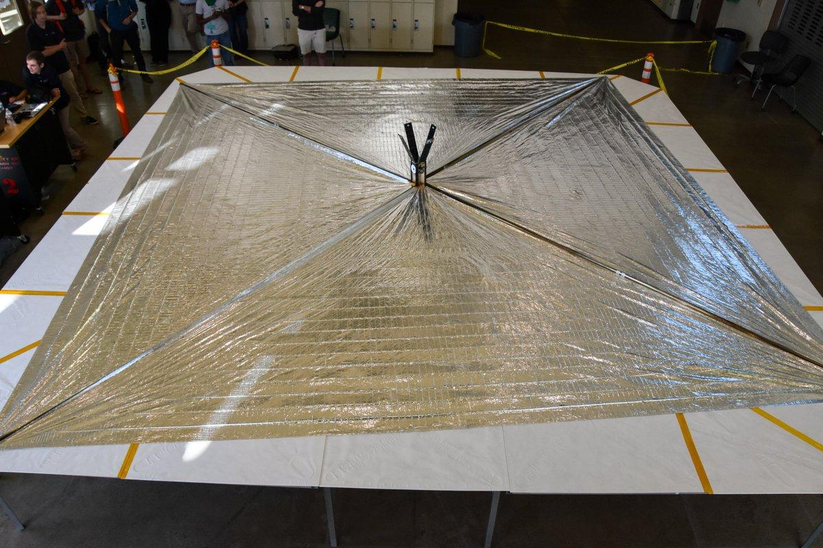 LIghtSail 2's solar sail is about the size of a boxing ring